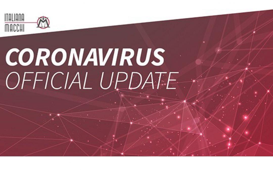 CORONAVIRUS – Official Update